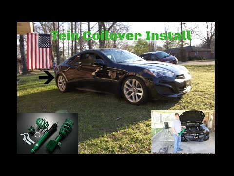 How to install coilovers on a Hyundai Genesis