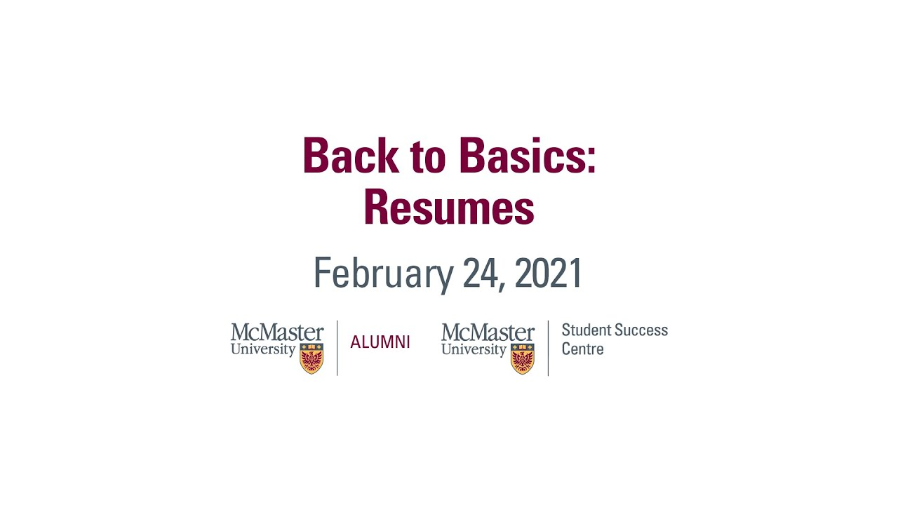 Image for Back to Basics: Resumes webinar