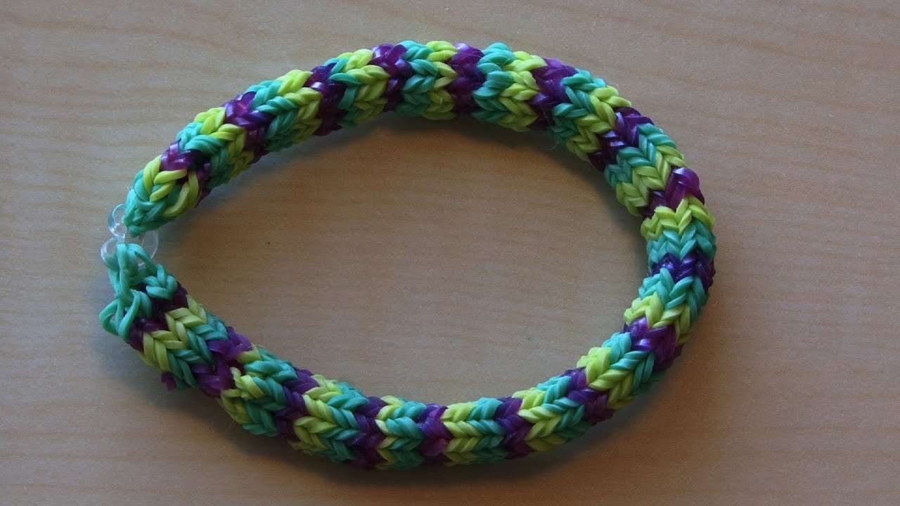 RAINBOW LOOM HEXAFISH BRACELET - HOW TO - YouTube