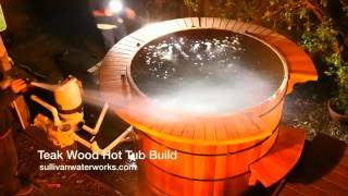 Teak Wood Hot Tub Construction
