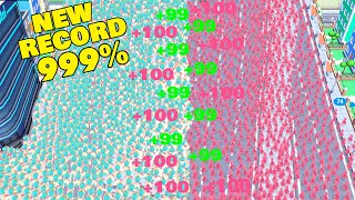 Crowd City - NEW RECORD WITH VERY RARE SKIN ( HIGHSCORE GAMEPLAY ) ‹ AbooTPlays › screenshot 1