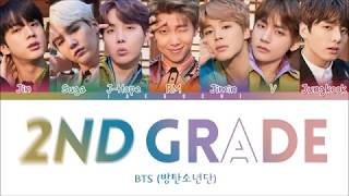 Video BTS - 2ND GRADE (2학년) (Color Coded Lyrics Eng/Rom/Han) download MP3, 3GP, MP4, WEBM, AVI, FLV Juli 2018