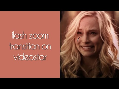 zoom flash transition on videostar