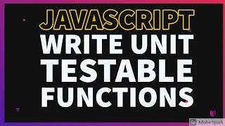 Small functions for Code segregation & unit testing #04