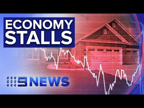 Stalling House Prices Sees GDP Growth Slow Further | Nine News Australia