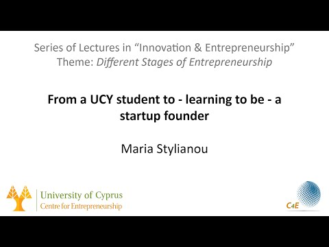 From a UCY Student to - learning to be -  startup founder