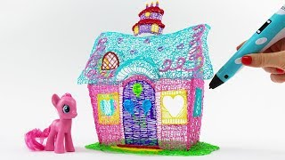 Pinkie Pie Sweet Shoppe House drawing with 3D PEN! My Little Pony Video