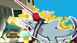 SHARK WITH A LASER BEAM IS OP!! | Shark Simulator