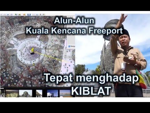 Alun-alun Kuala Kencana Freeport tepat Menghadap Kiblat