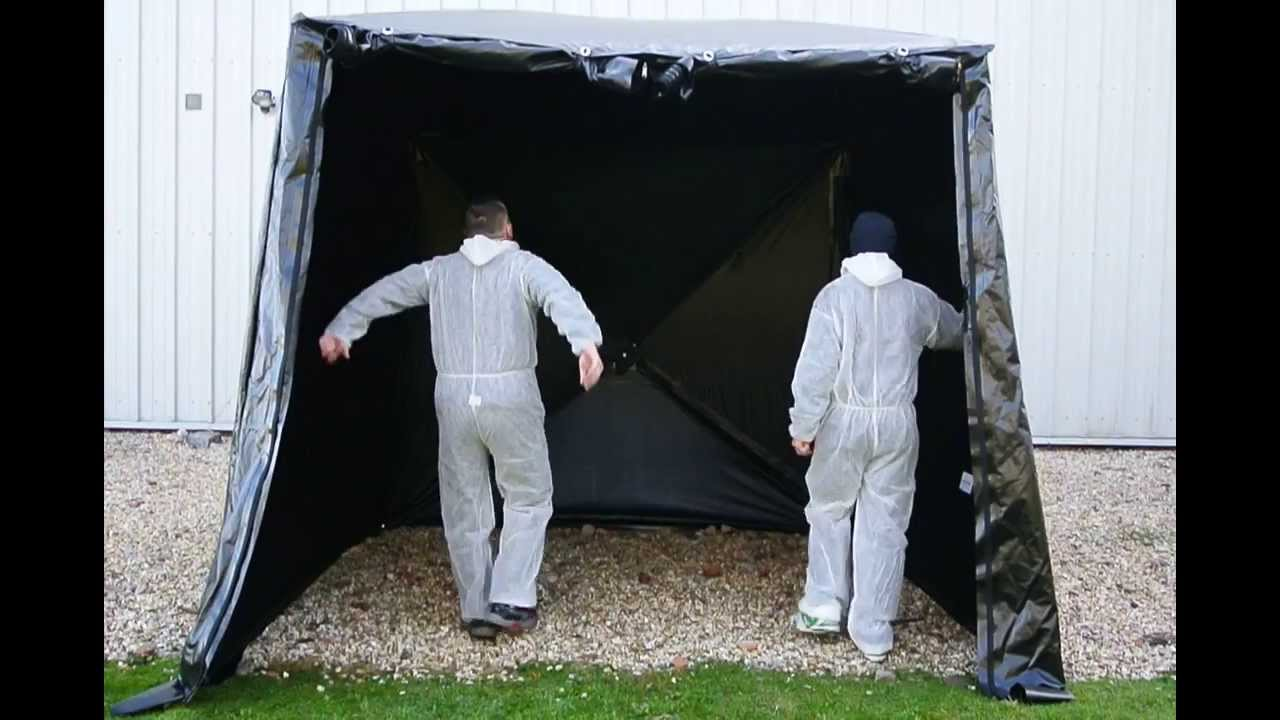 Portable Forensic Black Out Tent 300x300x265 & Portable Forensic Black Out Tent 300x300x265 - YouTube