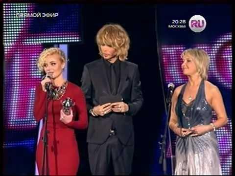 Полина Гагарина на премии RU-TV