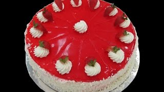 Strawberry Crush Birthday Cake In 10 Mins Easy To Make At Home.