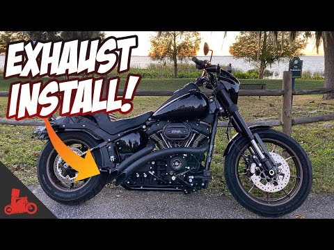 2020-harley-low-rider-s-exhaust-install!-(bassani-sweepers)