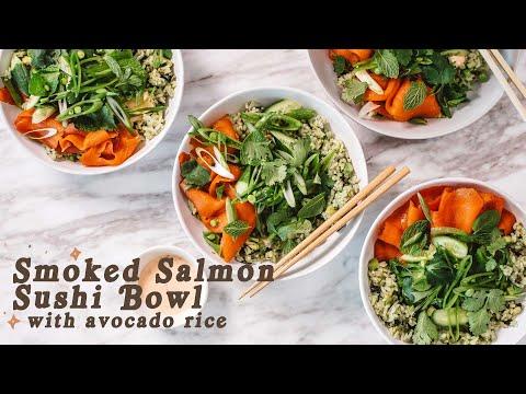 Smoked Salmon Sushi Bowl