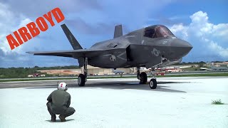 F-35B Preflight And Takeoff - Andersen Air Force Base