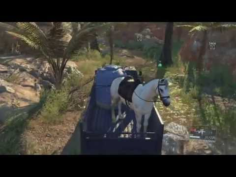 MGS V: TPP - Driving a truck with D-horse in the back