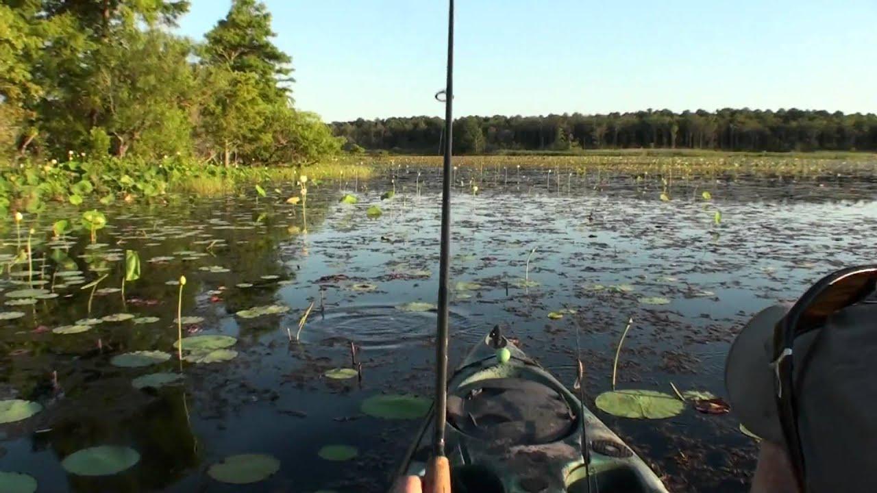 Kayak bass fishing capt ken designer bass frogs clone for Bass fishing kayak