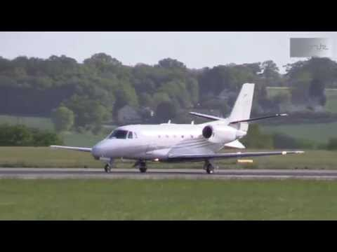 Plane Spotting at London Luton Airport 17-05-2015 - Lots of busines jets and other airliners