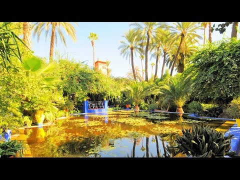Marrakech Tourist Attractions 4: Jardin Majorelle Garden Morocco Travel Guide