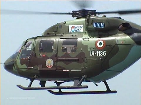 Rare Display Indian Army HAL Dhruv - Light Attack & Utility Helicopter of Hindustan Aeronautics Ltd.