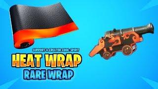 FORTNITE HEAT WRAP SHOWCASE! (ANIMATED WRAP!) (LEAKED WRAP) (COOL WRAP!)