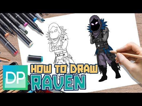 DRAWPEDIA HOW TO DRAW RAVEN from FORTNITE - STEP BY STEP ...