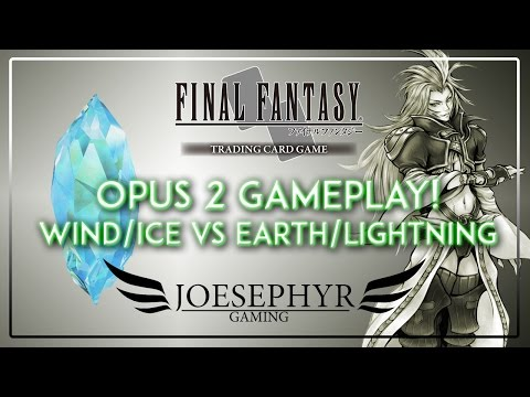 Final Fantasy TCG: Opus 2 Gameplay - Wind/Ice vs Earth/Lightning