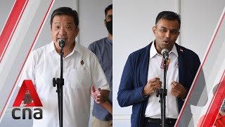 Ge2020: Pap, Spp Candidates For Potong Pasir Smc Address Supporters On Nomination Day