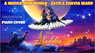 "Zayn Zhavia Ward - A Whole New World Piano Cover + A Whole New World Lyrics ""Aladdin"""