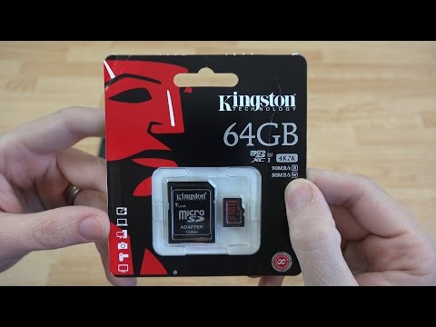 Kingston 64GB microSDHC/SDXC UHS-I U3 90R/80W Unboxing and Speed Test!