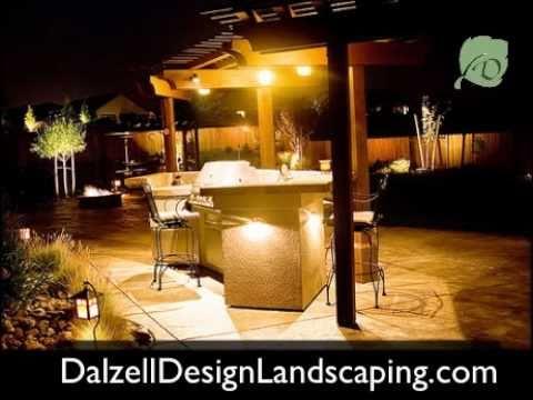 Outdoor Lighting - Backyard Patio low voltange landscape lighting