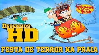 Phineas e Ferb - Festa de Terror na Praia com Gnomos de Jardim [HD]