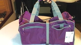 """Bago 23"""" portable packable foldable travel Medium Sports Duffle Bag with shoes pocket review"""
