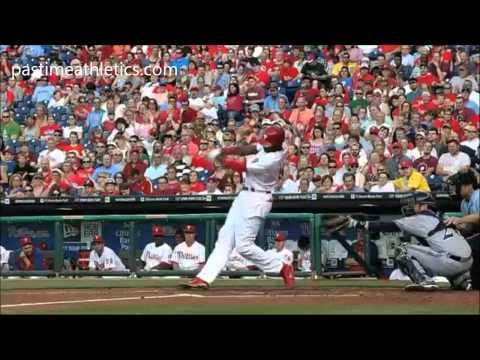 Domonic Brown Home Run Hitting Mechanics Baseball Swing Instruction Phillies MLB Clip Tips