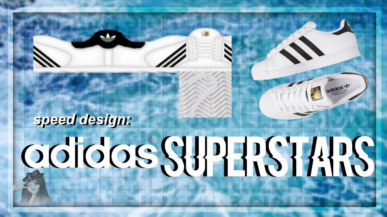 ROBLOX Speed Design: Adidas Superstars Shoes   Siskella