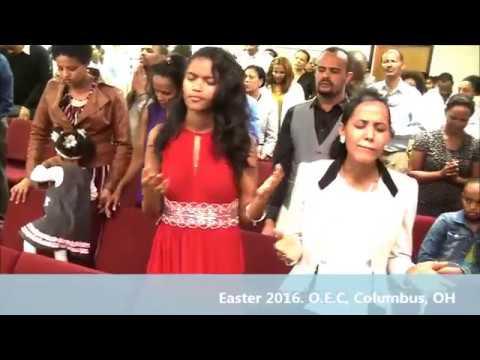 EASTER 2016 WORSHIP TIME AT OROMO EVANGELICAL CHURCH IN COLUMBUS OHIO