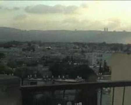 Live Rocket Attack on East Haifa
