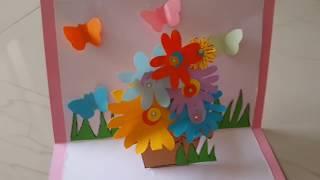Easy DIY Handmade POPUP Greeting Card Making Idea By Aloha Crafts
