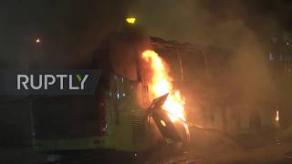 Hong Kong: Clashes at PolyU extend into the night