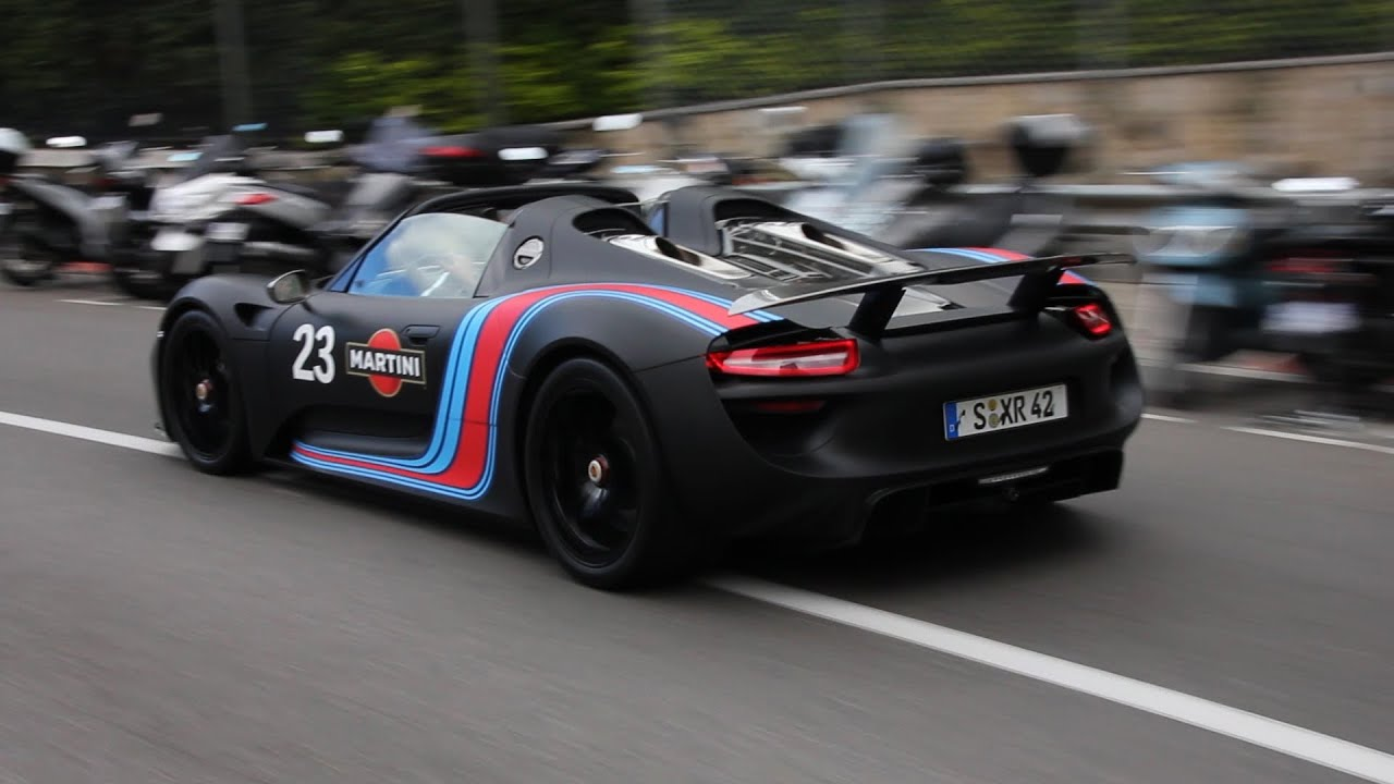 porsche 918 spyder sound in monaco accelerations downshifts hd youtube