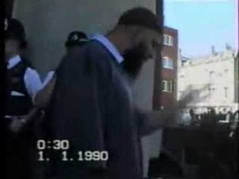 Abu Abdullah outside the mosque