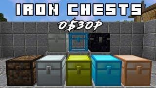 #1 Много различных сундуков! - Обзор мода Iron Chests для Minecraft 1.12.2 обзор модов
