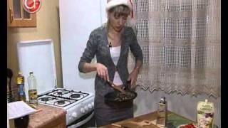 Салат с апельсинами и грибами