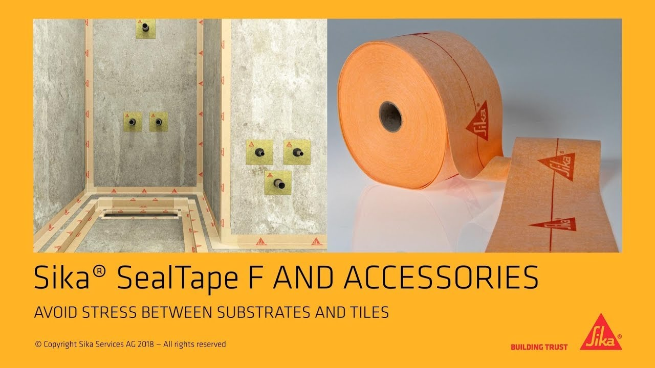 Sika® SealTape F and accessories: Avoid stress between substrates and tiles