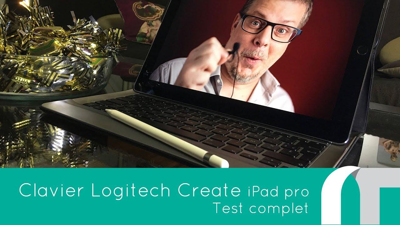 clavier logitech create pour ipad pro youtube. Black Bedroom Furniture Sets. Home Design Ideas