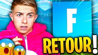 JE SUIS DE RETOUR MAIS JE COMPRENDS PLUS RIEN A FORTNITE !!!