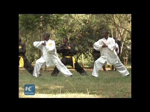 Chinese Kungfu team in Africa