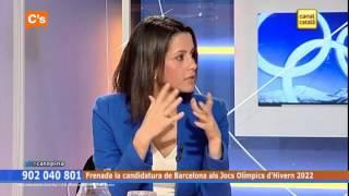 C's - Inés Arrimadas en 'Catalunya Opina' de Canal Català Tv. 17-10-2013