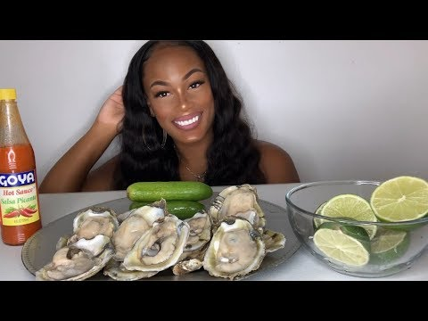 RAW OYSTERS| SEAFOOD MUKBANG!!!!