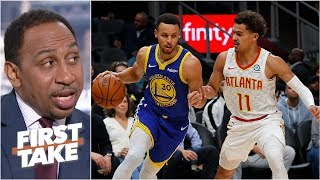 Trae Young 'has the potential' to be the new Steph Curry - Stephen A. | First Take